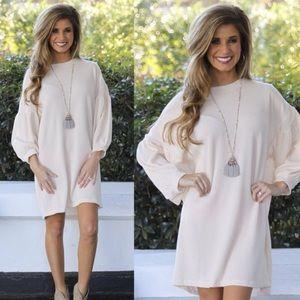 Ivory Ribbed Dress Sz L NWOT (*Dress ONLY Listing)